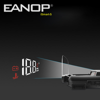 EANOP iSmart S hud display car OBD2 Windsheild Speed Projector Speedometer Voltage Monitor KHM KPM Convert|Head-up Display| |  -