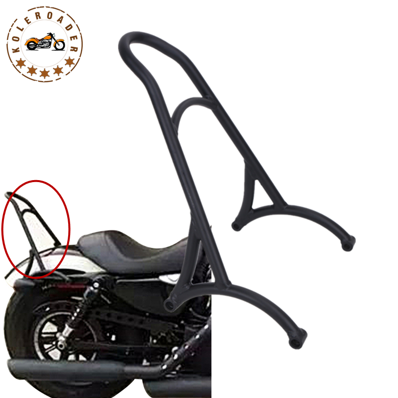 Black Passenger Backrest Sissy Bar For Harley Sportster XL883 1200 Iron 883 XL1200 2004-2015 Motorcycle Bracket Kits #58314 mtsooning timing cover and 1 derby cover for harley davidson xlh 883 sportster 1986 2004 xl 883 sportster custom 1998 2008 883l