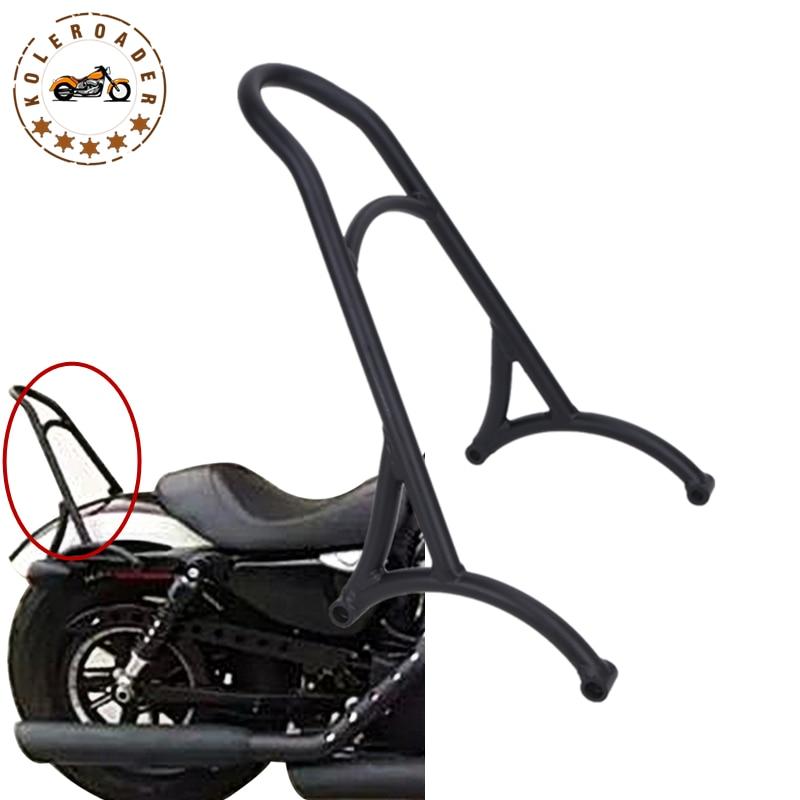 Black Passenger Backrest Sissy Bar For Harley Sportster XL883 1200 Iron 883 XL1200 2004-2015 Motorcycle Bracket Kits #58314 motorbike brake clutch lever for harley sportster 883 1200 xl883n xl883l xl1200c xl1200 superlow iron custom 2014 2015 2016 2017