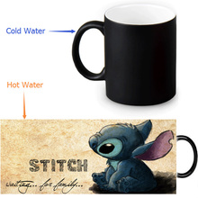 Lilo& Stitch Ohana Quote кофейные кружки Morph Кружка Термочувствительная Черный Цвет Изменение морфинга чайные кружки белая кружка 350 мл