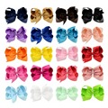 1piece Boutique Ribbon HairBow Summer Style For Baby Solid Hairbows Hairclip For Kid Hamdmade Barrette Hair Bow For Children 588