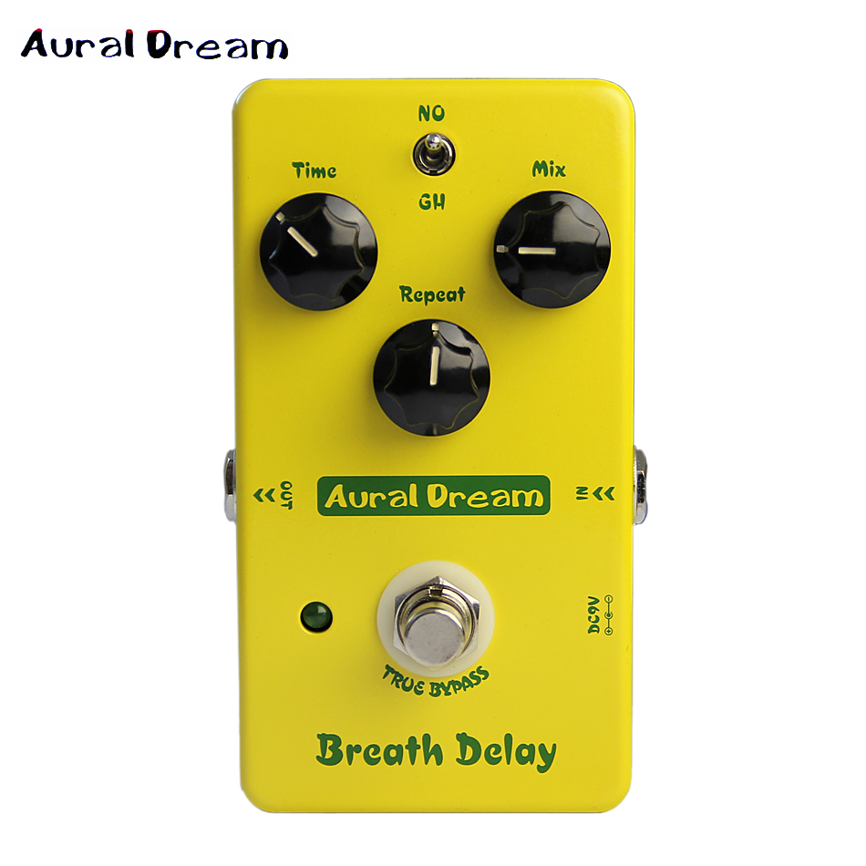 Aural Dream Breath Delay Analogue True Bypass Electric Guitar Delay Effects Pedal Guitar Accessories aroma adl 1 true bypass delay electric guitar effect pedal high quality aluminum alloy guitar accessories delay range 50 400ms