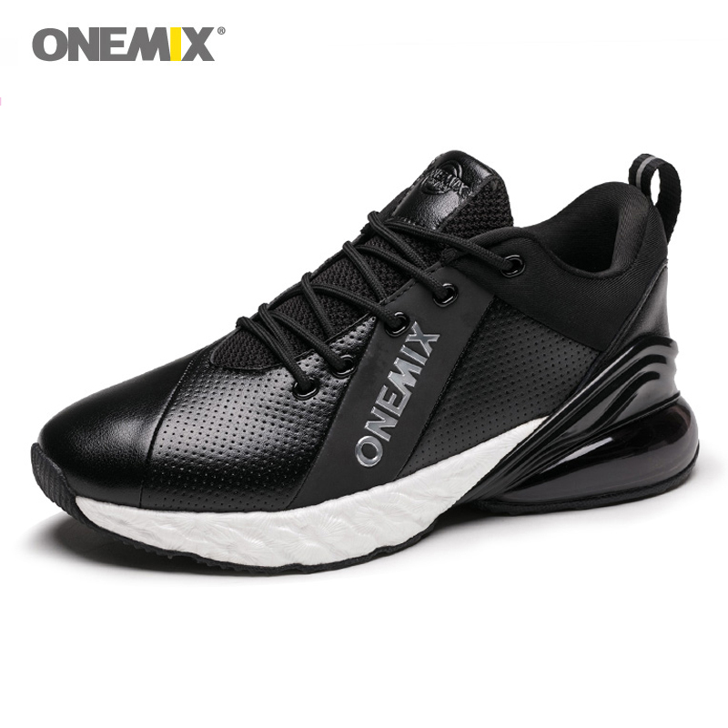 ONEMIX Winter Running Shoes For Men Air 270 Breathable Walking Sport Outdoor Men Running Shoes Black Skateboarding Shoes Factory
