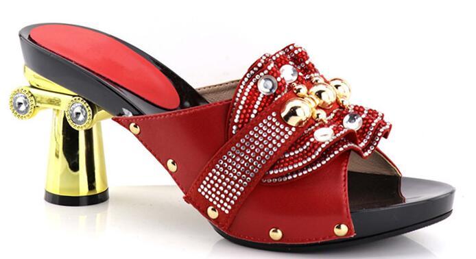 De Tacón Negro Mujer 2019 Africana La Zapatos rosado Zapatillas rojo Nueva Llegada rosa Verano verde Bajo 1qEwEaz
