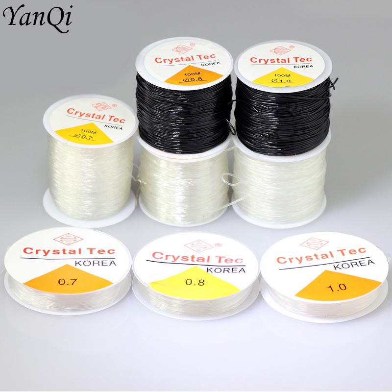 10 Rolls 0.6-1mm Beading Jewelry Making Thread Strong Elastic Stretch Wire Cord