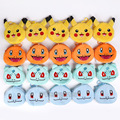 Monster Pikachu / Charmander / Bulbasaur / Squirtle Plush Bag Soft Pendant Dolls with Keychain 5pcs/lot 12cm