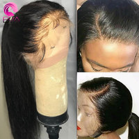 Eva Hair Straight Full Lace Human Hair Wigs Pre Plucked With Baby Hair Glueless Full Lace Wig Bleached Knots Brazilian Remy Hair