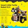 ¡Nuevo! Kit de coche de Robot de tortuga inteligente keyestudio V2.0 W/programación gráfica + Manual de usuario (en inglés) para Arduino Robot