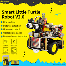 NEW! keyestudio Smart Little Turtle Robot Car kit V2.0 W/Graphical Programming +User Manual (English) for Arduino Robot