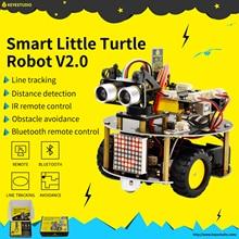 NEW! keyestudio Smart Little Turtle Robot Car kit V2.0 W/Graphical Programming +User Manual (English) for Arduino Robot