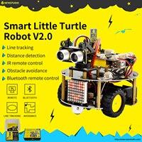 NOVO! Keyestudio Tartaruga Pouco Inteligente Robot Car kit V2.0 W/Programação Gráfica + Manual Do Usuário (Inglês) para Arduino Robot