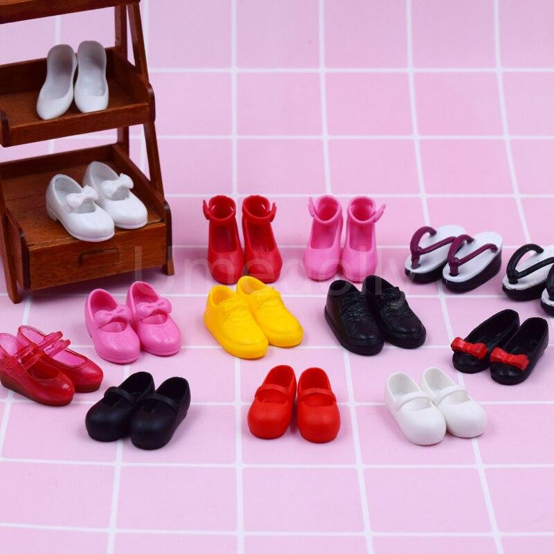 1 пара модных блестящих туфель для кукол 1/6, женские туфли с откидной крышкой, парусиновые туфли Azone Licca, обувь для кукол, аксессуары для одежд...