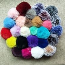 8cm Faux Rabbit Fur Ball Keychain Fur Pom Pom Keychains Llaveros Portachiavi Fluffy Keychain Porte Clef Porte Clef Pompom De