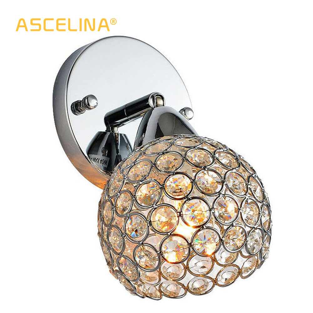 Modern Crystal Wall Lamp Sconce K9 G9 Bed Room Stairs Aisle Chandelier Wall Light Fixture Shade For Home Decor Luminaire FRHA/51