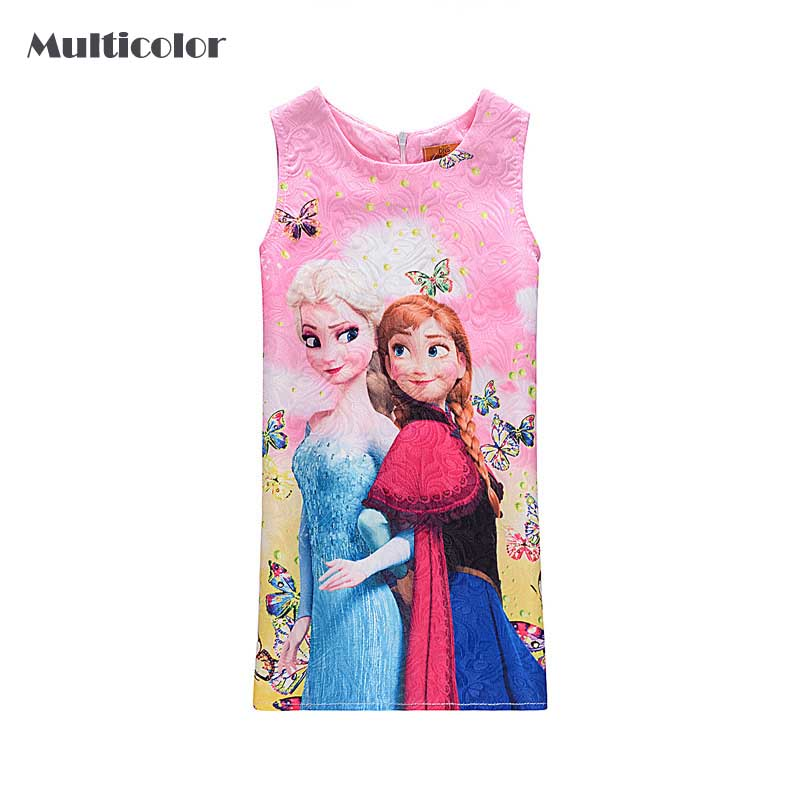 New Summer Gilr's Children Night Dress Clothes Girls Princess For Baby Girls Sleep Wear Waist Sleeveless Party Dress Girl Cloth