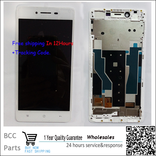 A++ quality For OPPO R7 LCD display+Touch screen Panel Digitizer with frame in stock!Tested ok!Free shipping