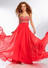 Heißer Verkauf Sommer Strand Perlen Chiffon Perlen Benutzerdefinierte Desgin Funkeln Kleid Party kleider Prom Kleider