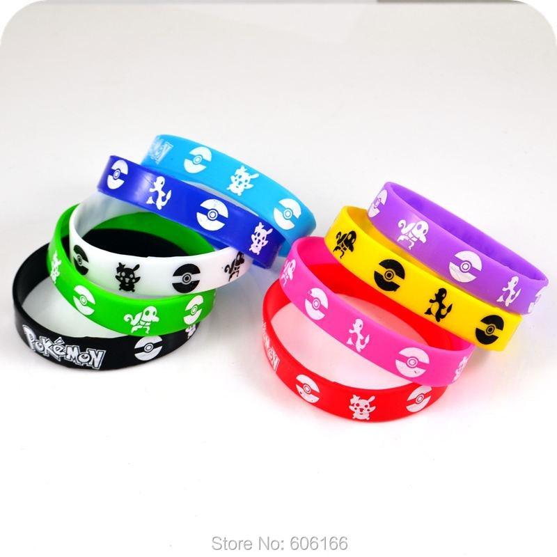 cheaper 30e9d 16b05 US $14.99 |50x Pokemon Go Team Valor Mystic Instinct braccialetto del  wristband del braccialetto del silicone del fumetto del anime gioielli di  moda ...