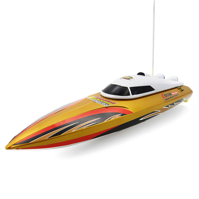 2.4GHz Wireless Remote Control Ship Racing 15km/H RC Boats Dry Battery RC Boat For Children Lakes / Pools Electric Water Toy lakes restaurant