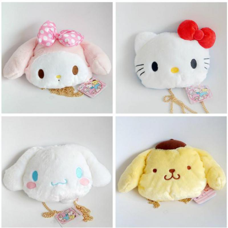 Detail Feedback Questions about Cartoon My Melody Hello Kitty Cinnamoroll  Pudding Dog Plush Backpack Chain Shoulder Bag Soft Stuffed Animal Doll For  Girls ... e8c5d55bfa494