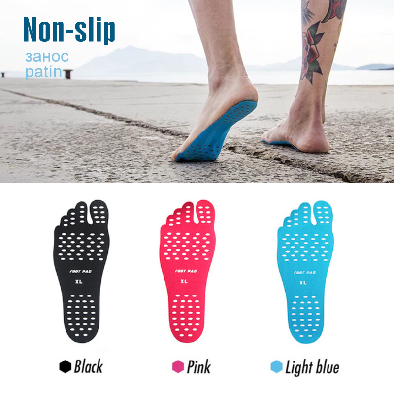 Sticker Shoes Stick On Soles Sticky Pads For Feet Beach Sock Waterproof Hypoallergenic Adhesive Pad For Walking Freely Insoles