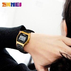 Image 4 - SKMEI Dames Fashion Horloges Outdoor Sport Luxe Legering Digitale Horloge Bandje Business Relogio12/24 Uur Relogio Feminino Digitale
