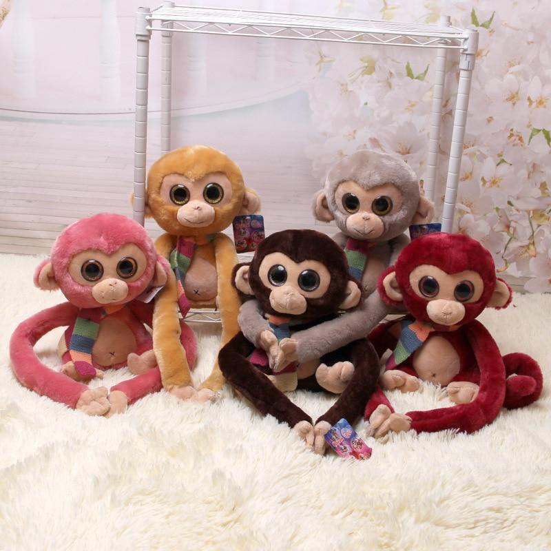 1pc Long Arm Monkey Big Eye Monkey Five Colors Stuffed Animals Kids Toys Valentine's Day Gift Kids Gift