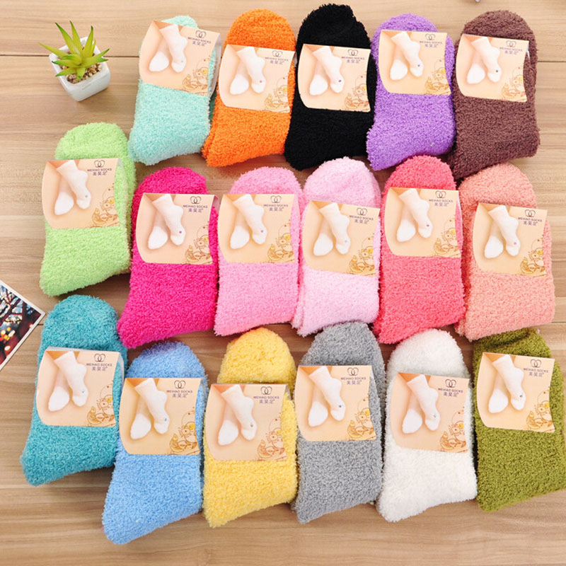 Fuzzy Socks for Women Winter Fluffy Doudou Material Thick Warm Fleece Sleep  Socks(China ( - Compare Prices On Wholesale Fuzzy Socks- Online Shopping/Buy Low
