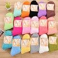 Fuzzy Calcetines para Las Mujeres Invierno Mullido Doudou Material de Lana Gruesa Cálido Calcetines Sueño