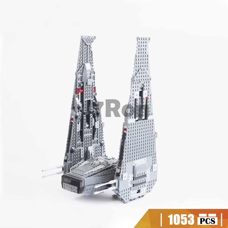 05006 1053Pcs Star Wars Series Kylo Ren Command Shuttle Building Blocks Educational Toys hobbies Compatible with Lego 75104