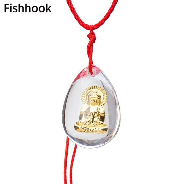 Fishhook Vintage Chinese Happy Lucky Money Symbol Buddha Pendant