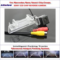 Liislee Intelligent Parking Tracks Rear Camera For Mercedes Benz Smart City-Coupe Reverse / NTSC RCA AUX SONY CCD 580 TV Lines