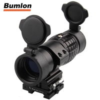 Tactical 30mm 3X Magnifier Scopes Optics Focus Adjusted Fits Red Dot Sight With Picatinny Weaver Rail