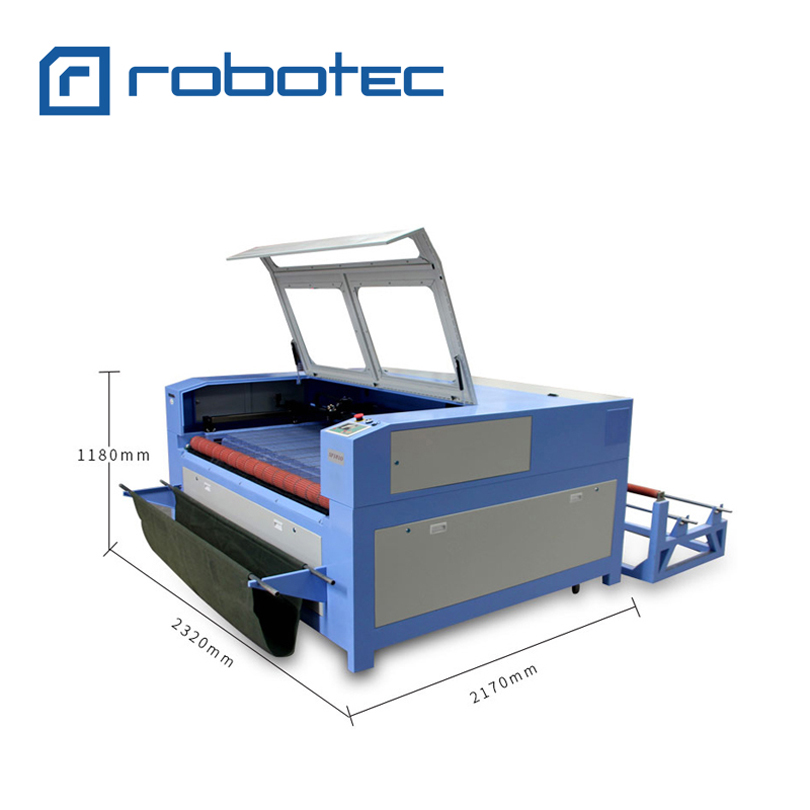 Double head Fabric Laser Cutting Machine 1610 1810 Auto Loading System CNC Laser Cutter For Fabric Texitle