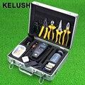 KELUSHI 26 em 1 Ferramenta Conector Localizador Visual de Falhas Óptica/Cabo de Fibra Óptica Tester Medidor de Potência Óptica de Fibra Óptica Cleaver Stripper