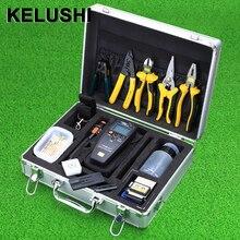 KELUSHI 26 dans 1 Optique Connecteur Outil Visual Fault Locater/Testeur De Câble De Fiber Optique Power Meter Optique Fendoir De Fiber Stripper