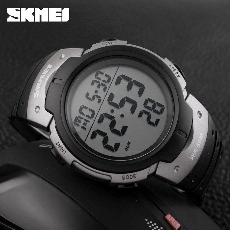 font b Men b font Watch SKMEI Brand 1068 Outdoor Sport Watches Big Dial Chronograph