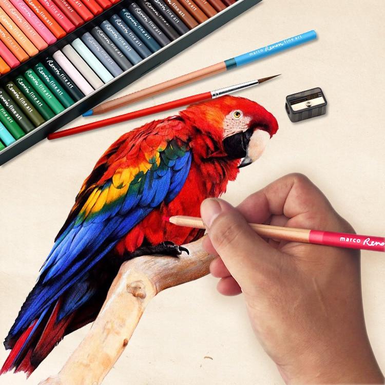 72 color watercolor pen oil paint coloring colour Pencil for drawing profissional Painting Pencil set цена 2017