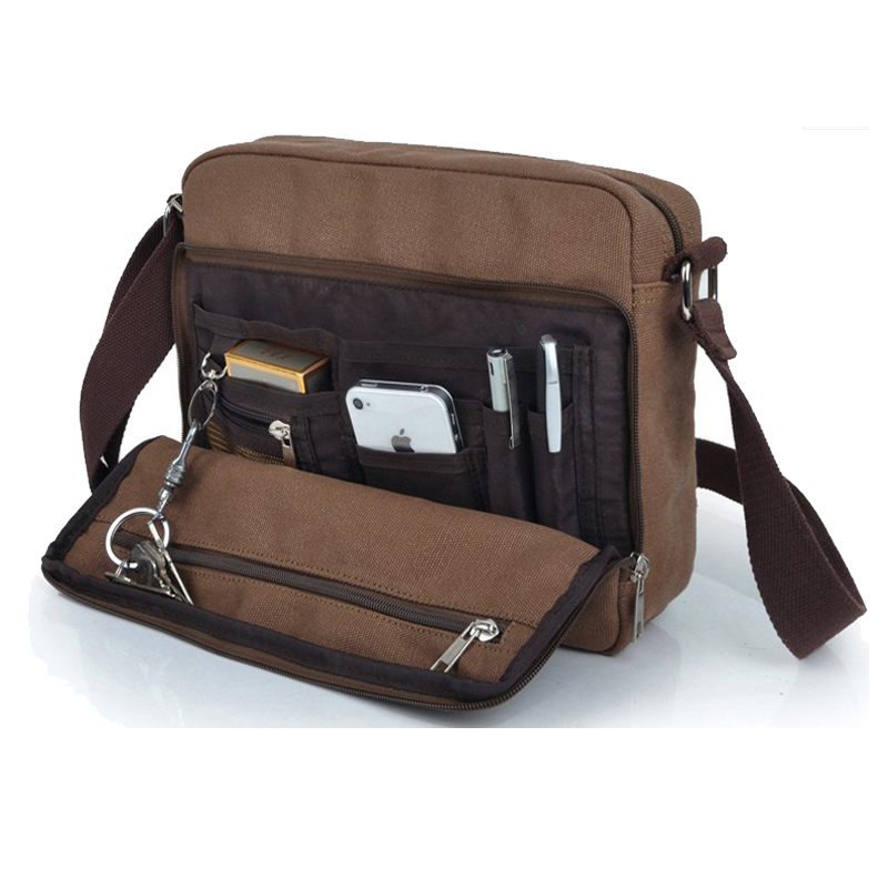 купить High Quality Multifunction Men Canvas Bag Casual Travel Bolsa Masculina Men's Crossbody Bag Men Messenger Bags недорого
