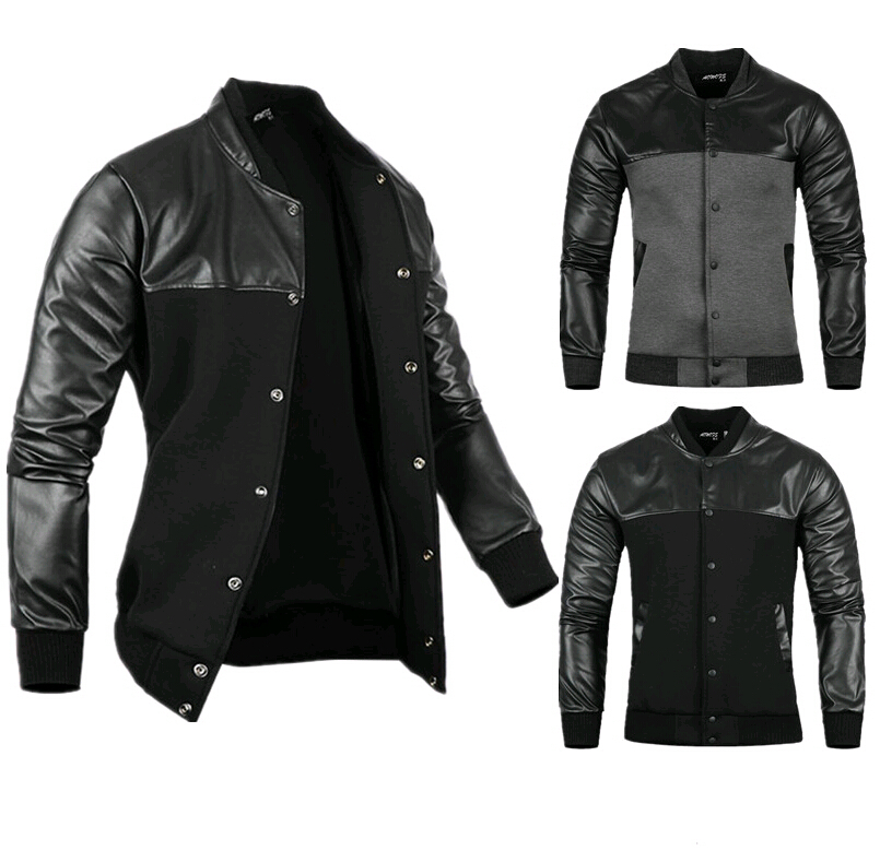 Compare Prices on Mens Leather Baseball Jackets- Online Shopping