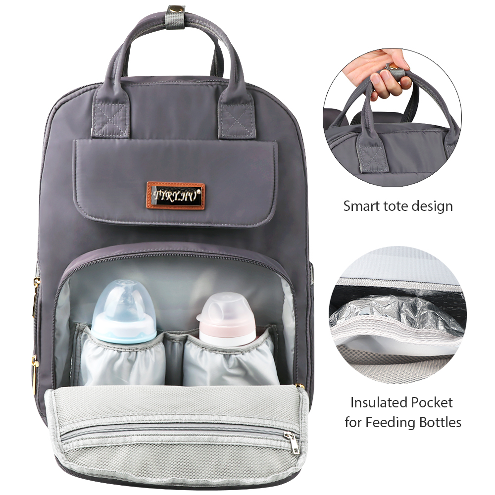 Image 5 - TYRY.HU Mummy Maternity Bag Large Capacity Diaper Bags Popular Nappy bags Backpacks For Moms-in Diaper Bags from Mother & Kids