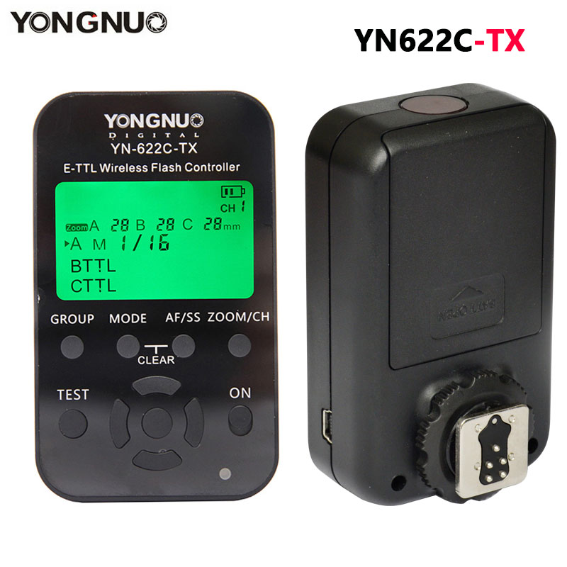 YONGNUO YN 622C TX Transmitter LCD Wireless ETTL Flash Controller Trigger for Canon 5D 5DII 5DIII