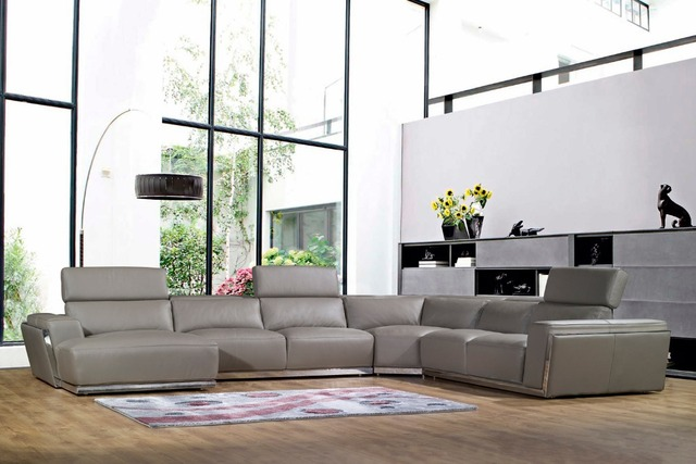 US $1510.5 5% OFF|Kuh echtes leder sitzgruppe wohnzimmer möbel couch sofas  wohnzimmer sofa schnitts/ecke sofa u form verschiffen nach port in Kuh ...