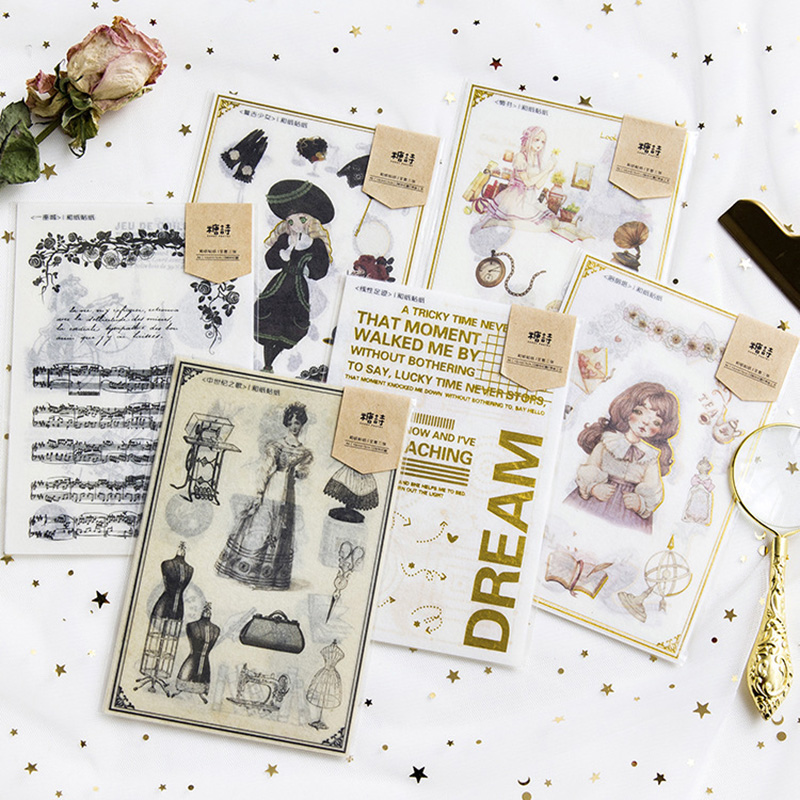 3PCS/Lot European Style Retro And Paper Sticker Album Hand Account Decorative Packaging Fashion Sealing Stickers
