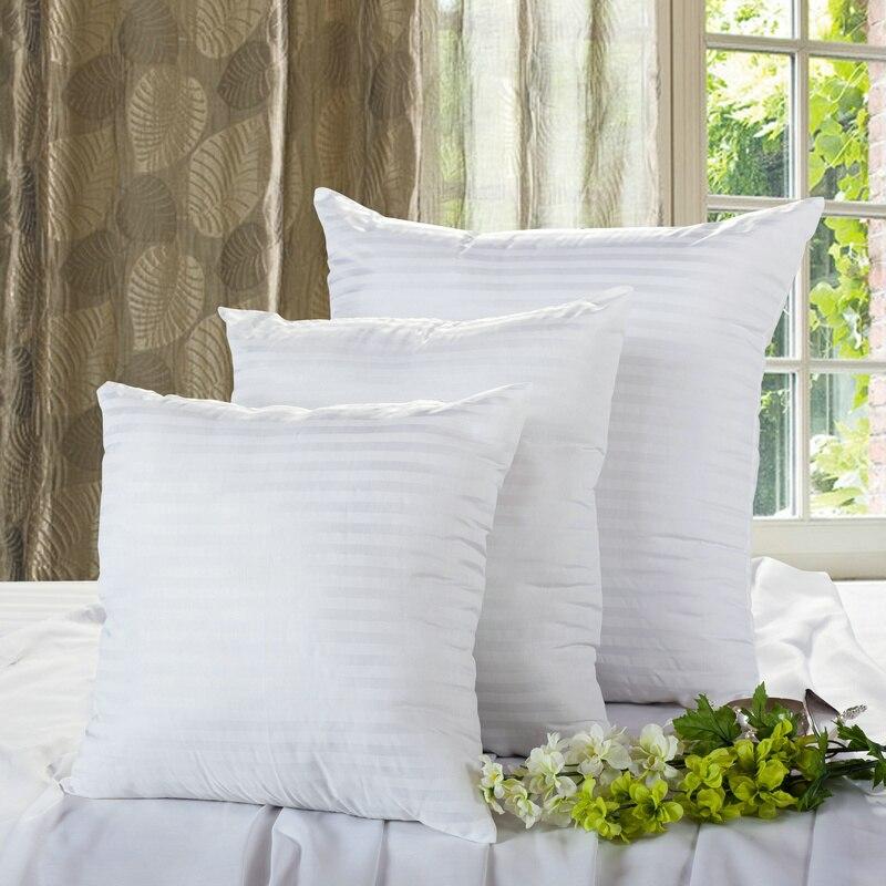 2pc/Lot Decorative Pillow Insert 60 x 60 / 70 x 70 / 50 x 50 cm Pillow Core, 100% Cotton Decorative Cushion Core,5 size choose