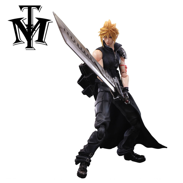 Anime Final Fantasy VII Cloud Strife Action Figure Collection Play Arts Kai Figurine Kids Toy Model