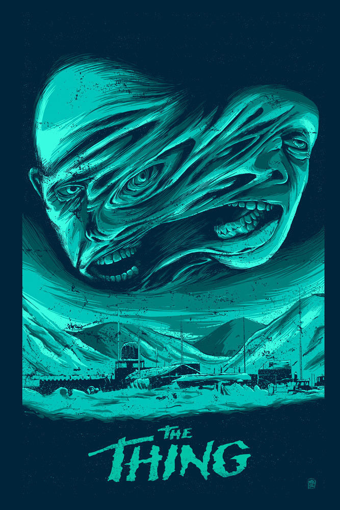 The Thing 24x36inch 1982 Old Horror Vintage Style Movie Silk Poster Wall Decals