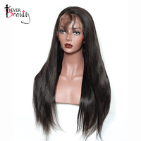 180 Density Silk Base Full Lace Human Hair Wigs Pre Plucked Brazilian Straight Glueless Full Lace Wig Baby Hair Ever Beauty Remy