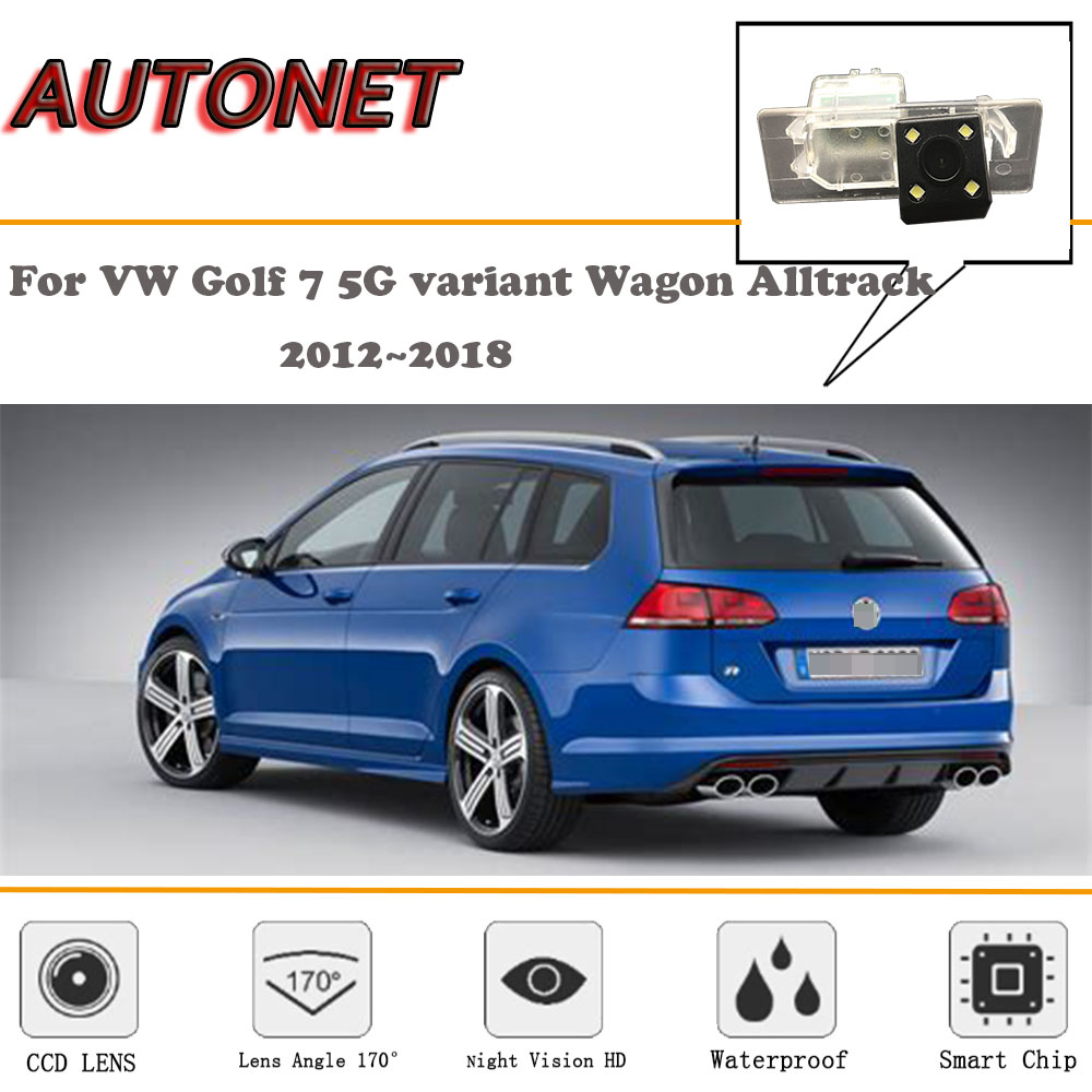 AUTONET Rear View camera For VW Golf 7 5G variant Wagon Alltrack 2012~2018/CCD/Night Vision/Reverse Camera/license plate camera