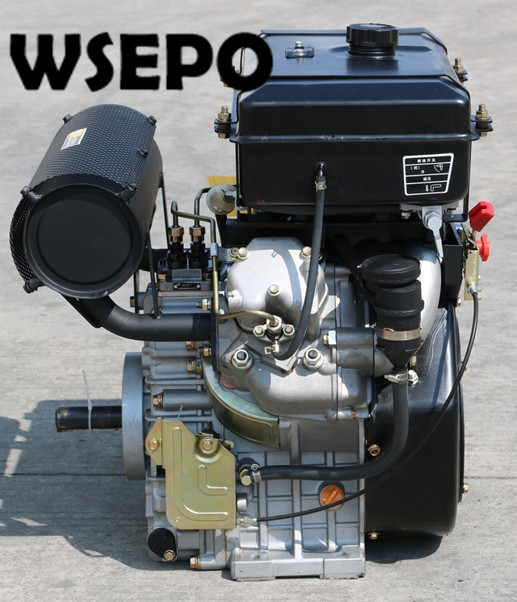 Factory Direct Supply! WSE-2V86F 836CC 20HP 12KW V-Twin Cylinder Horizontal Shaft Air Cooled Diesel Engine With Electric Start цена